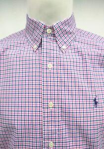 5 overhemd Mens Medium89 Blue Lauren Cross mouw Pink Controleer met lange Nwt Ralph rdtshQ