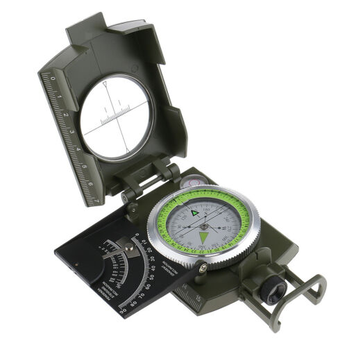 Professional Military Army Geology Metal Sighting Compass for Camping Hiking