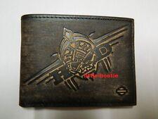 Harley-Davidson Geldbörse, Portemonnaie, Wallet -  97673-15VM  scull - antik