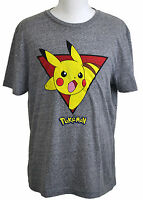Pikachu T-shirt Pokemon Graphic Tee Heather Gray