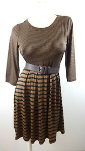 69-NEW-GILLI-BY-MODCLOTH-WOMENS-STRIPED-KNIT-FIT-amp-FLARE-JERSEY-DRESS-SIZE-M