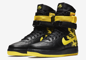 promo code 95eef 231b6 New Nike Air Force 1 High SF Af1 Special Field Yellow Logos Ar1955 ...