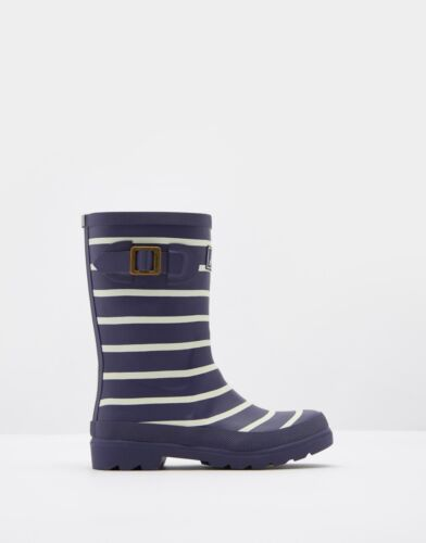 *BNWT* Joules Boys French Navy Striped Wellys Rain Boots Wellies Rainboots Fun