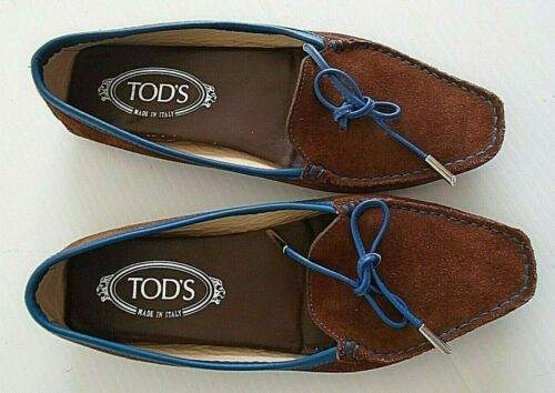 Tod's women's driving moccasin Suede Leather size