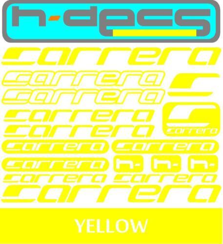 Carrera T1 Die-cut decal sheet. stickers, cycling, mtb, bmx, road, bike