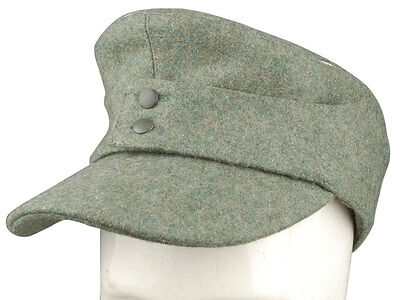 WWII GERMAN WH OFFICER M43 PANZER WOOL FIELD CAP M-33932