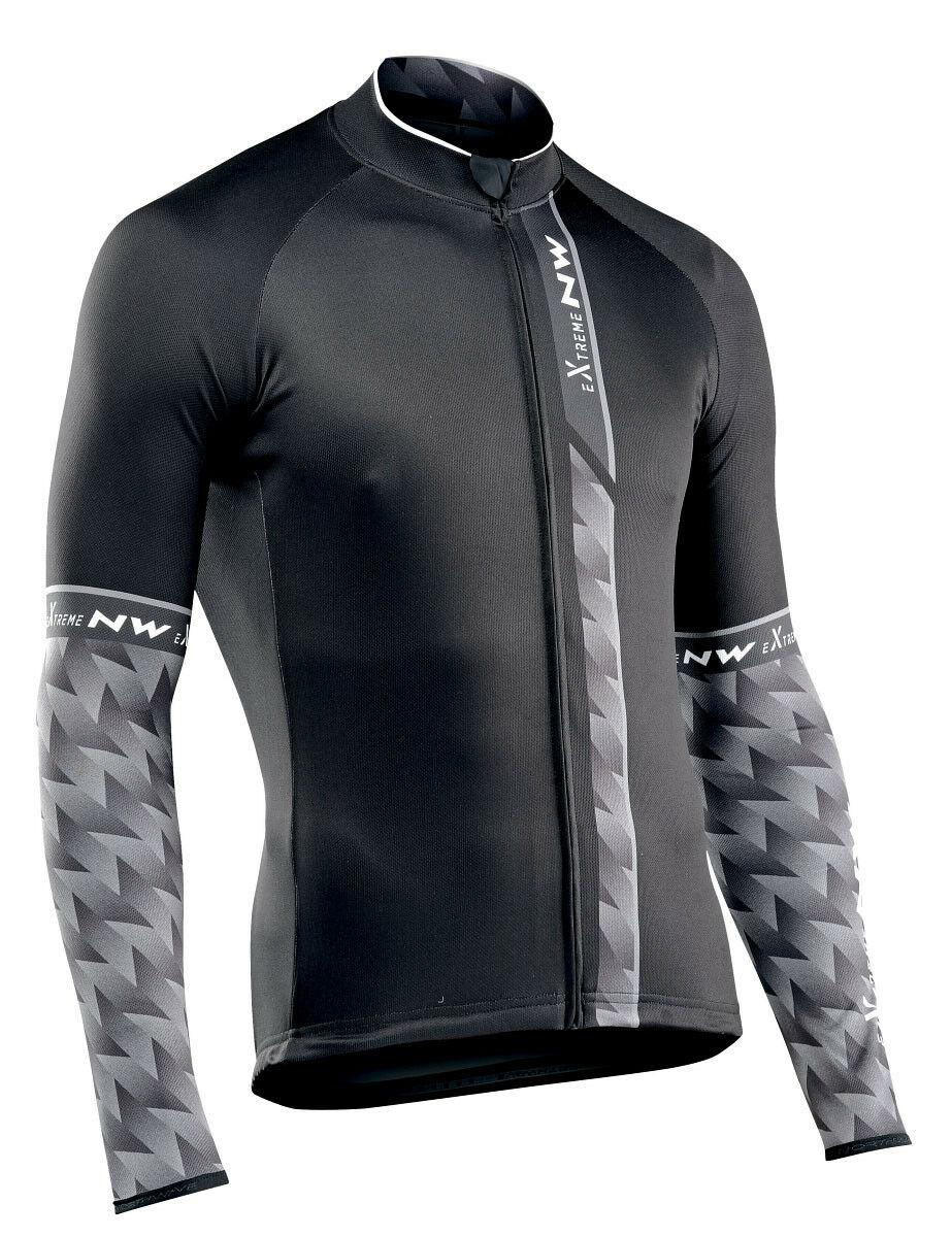 Northwave Extreme 3 3 3 Fahrrad Trikot lang schwarz grau 2019 f68f3a