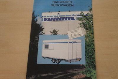 Variant Bauwagen Bürowagen Prospekt 02/1992 Extrem Effizient In Der WäRmeerhaltung Zeitschriften 177875