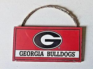 Details About Georgia University Bulldogs Ncaa Team Licensed Man Cave Wooden Sign With Rope