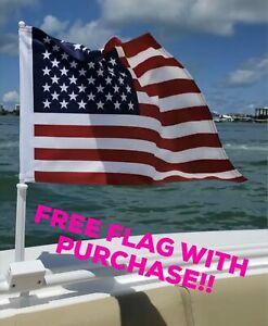 Boat-Flag-Mount-Car-Flag-Rail-Holder-1-034-Nauti-Mount-034-FREE-FLAG-INCLUDED