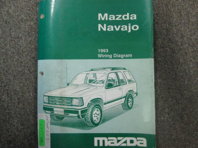 1993 Mazda Navajo Electrical Wiring Diagram Manual Factory