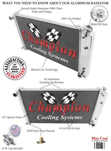 Champion Cooling Systems EC162 Radiator 2 Row DR Radiator