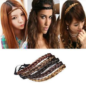 a5dc187e92f1a5 Das Bild wird geladen Damen-Mode-Stil-Nettes-Maedchen-Haarband-Stirnband- Geflochten-