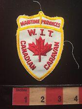 Souvenir CANADA Patch WIT CANADIAN CARAVAN MARITIME PROVINCES 68F2