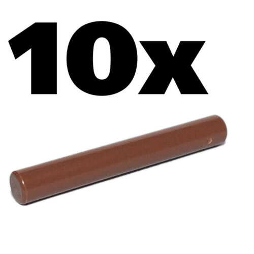 Brown Reddish x10 rod light saber Arrow stick Weapon NEW LEGO Bar Length 3