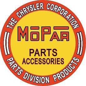 mopar dodge chrysler parts corporation round sign tag plate shop metal tin 613