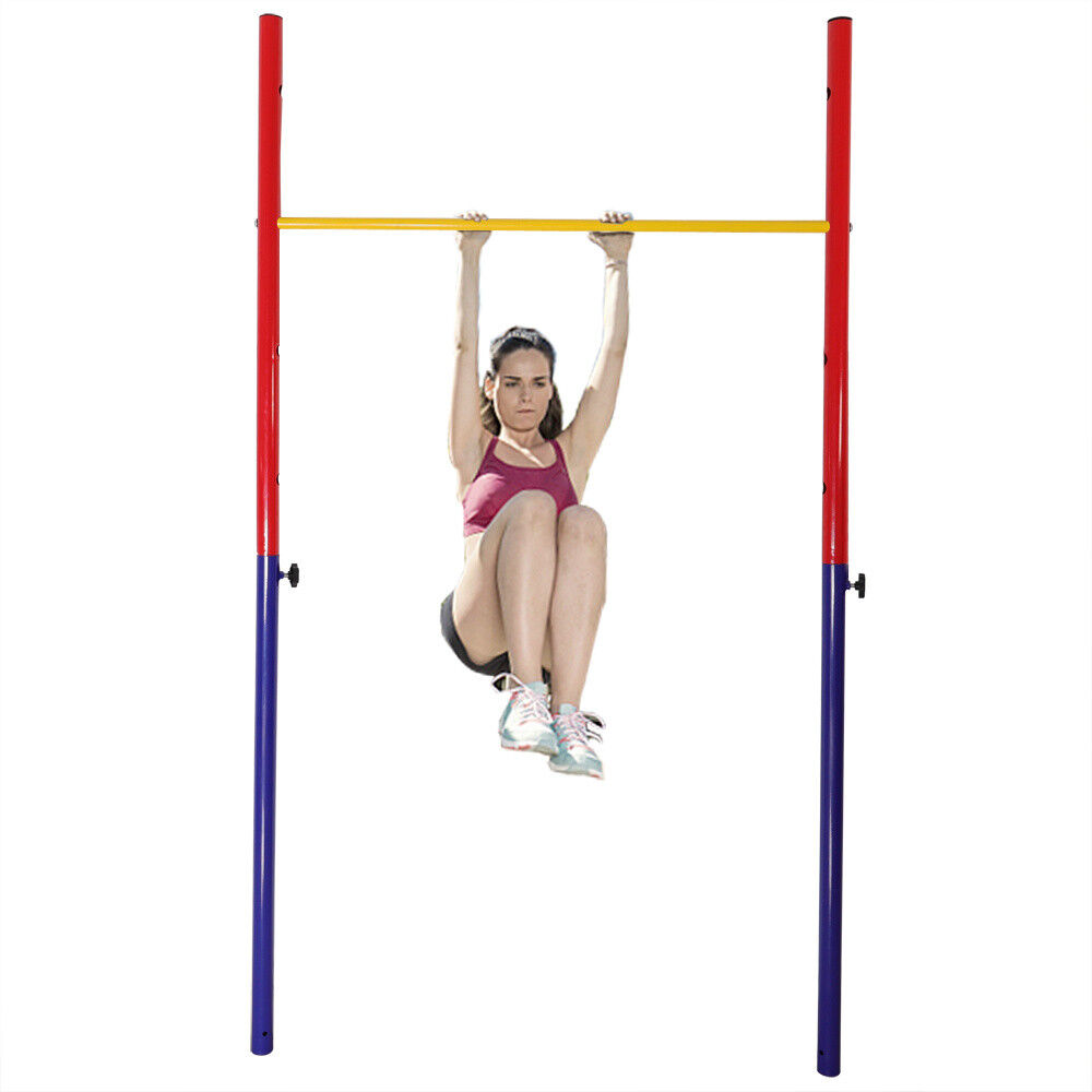 Outdoor Gymnastic Horizontal High Single Bar Home Garden Gym Training Adult Kids