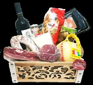 Strenna di Natale GOLD BOX 2 - Cesto Natalizio Gastronomico salumi formaggi