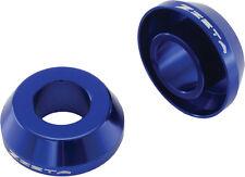 ZETA FAST REAR WHEEL SPACERS (BLUE) Fits: Yamaha YZ125,YZ250,YZ250F,YZ450F,WR250