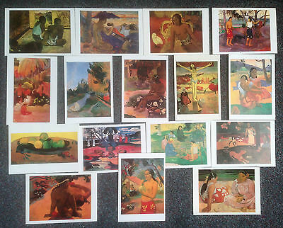 LOT OF 19 POSTCARDS OF IMPRESSIONIST PAINTINGS BY PAUL CEZANNE