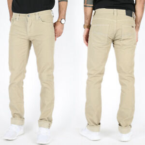 New-Nudie-Mens-Slim-Fit-Cord-Jeans-Trousers-Grim-Tim-Sand-Cord