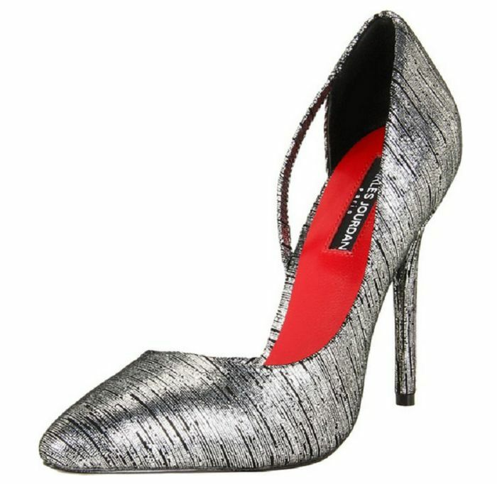 Charles Charles Charles Jourdan Collection Women's Sandra Pump,Silver/Black,11 M US Eur 41-42 4e4965