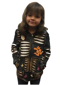 New Kids Black & White Patchwork Jacket Size 4/6