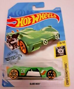 Mattel-Hot-Wheels-diapositiva-Kick-verde-Nuevo-Sellado