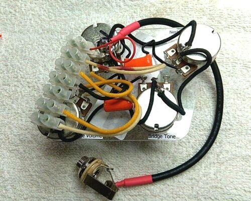 Les Paul wiring harness// Bourns pots// Orange Drop caps// Solderless installation!