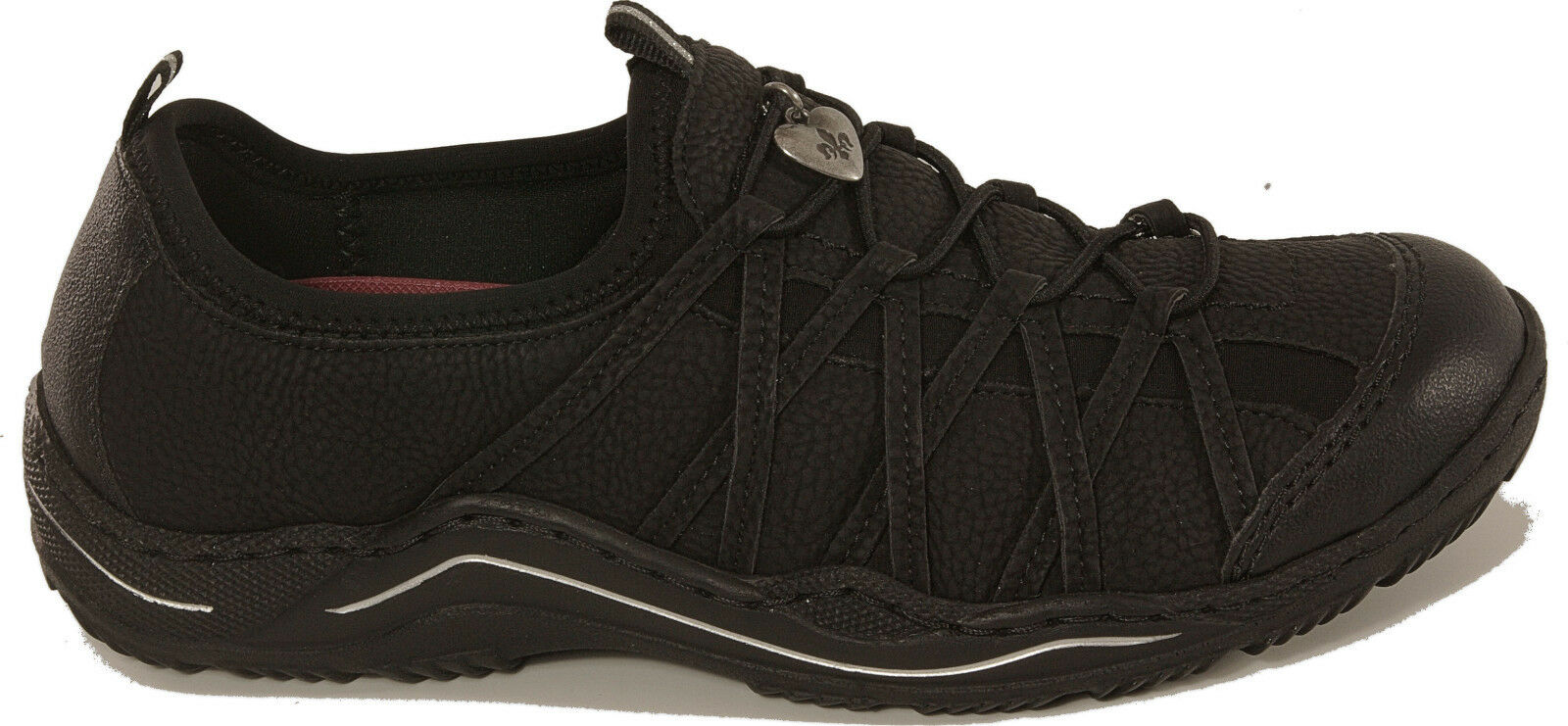 Rieker Scarpe Basse senza Sneaker Nero Cambio Plantare senza Basse Inserto Nuovo 0b808e