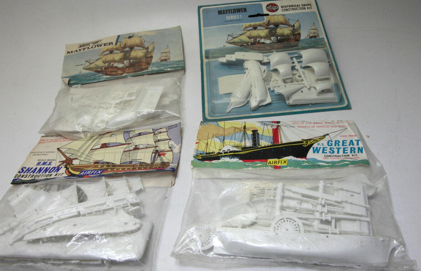 Airfix 4 Navi   Vintage1  Shannon 2  Mayflower 1 Great western RARE anni 60