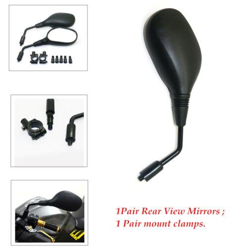"1Pair Rear view Mirror Handlebar Mount Fits 7//8/"" bars for Motorcycle  ATV"