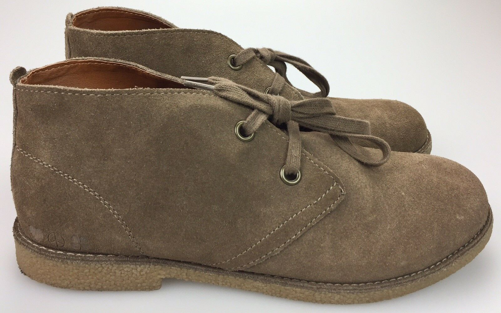 Lucky Brand Women's Brown Suede Leather Lace Up Chukka Booties Size 9.5