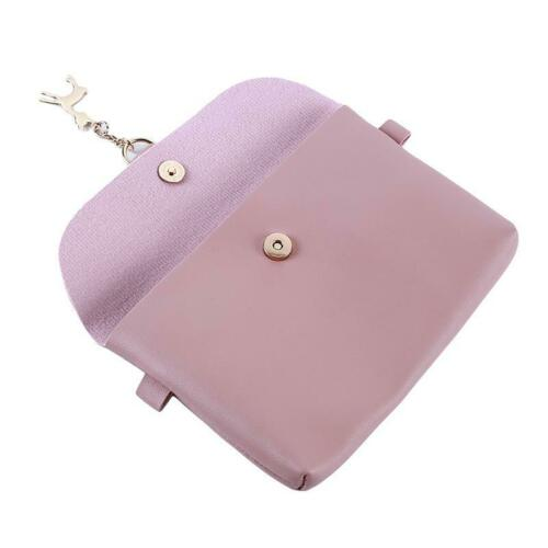 Fashion PU Leather Cross-body Mobile Phone Shoulder Bag Pouch Case Chain FI