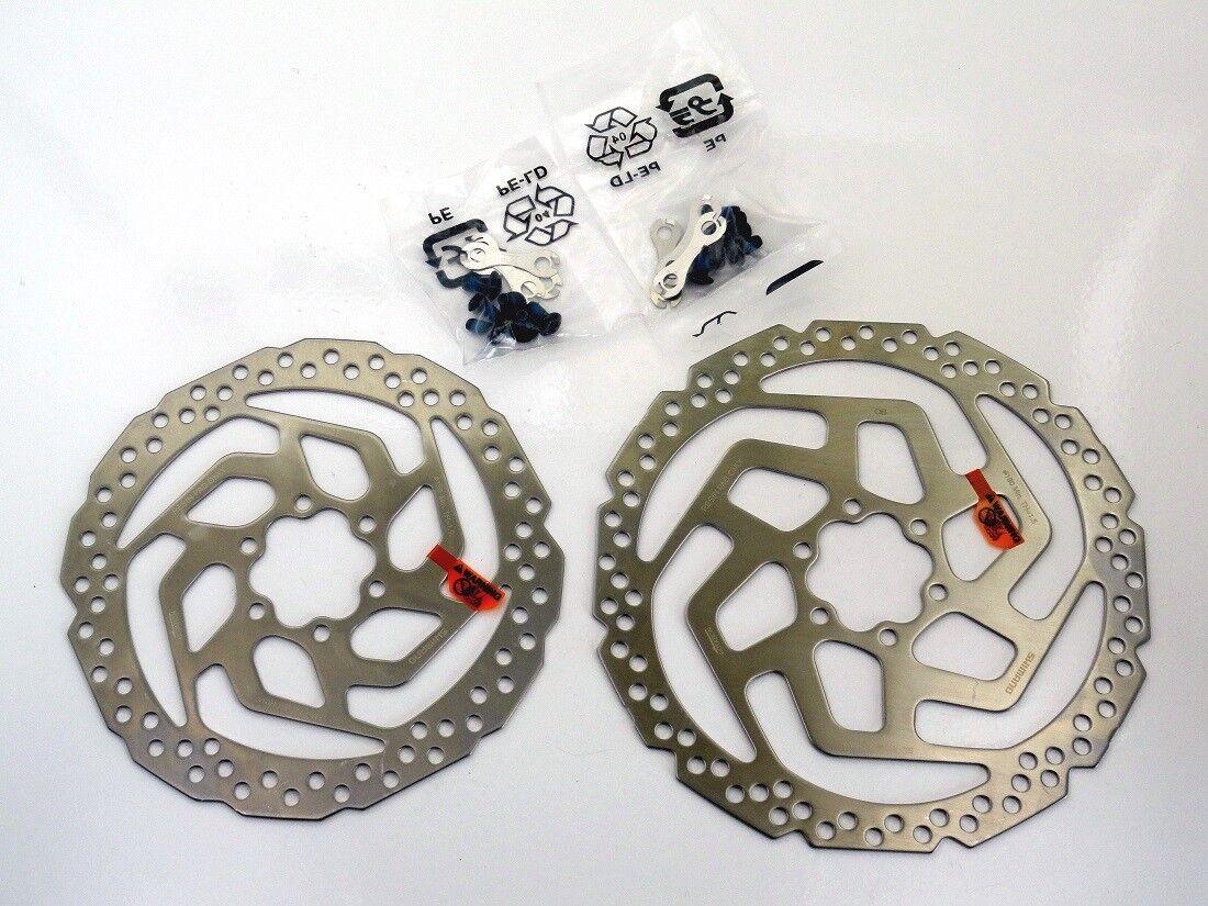 Scheibenbremsen Set Shimano MT200 Schwarz Schwarz Schwarz + Bremsscheiben 6-Loch 160 180 SM-RT26  | Leicht zu reinigende Oberfläche  025eff