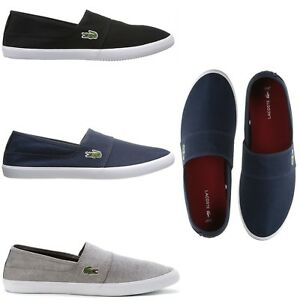 size 7 hot sale online promo code Details about Lacoste Men's Casual Comfort Shoes Marice Canvas Slip On  Loafers NEW Pick Color
