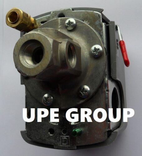 New SQUARE D Pressure switch 9013FHG44J59M1X  135-175 w// unloader 4 port  ON//OFF