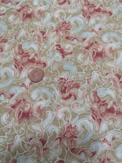 Jasmine 120-472 100/% Cotton Quilting Craft Fabric Floral Paintbrush Studio