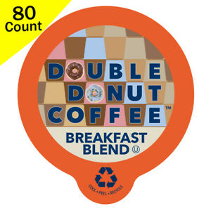 Double-Donut-Breakfast-Blend-Medium-Coffee-Keurig-K-cup-80-ct