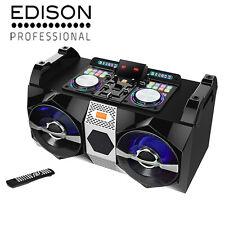 Edison DJ Bluetooth Boombox 1500 Watt Dual USB SD Mic Input Aux FM Cross Fader