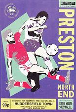 Preston North End V Huddersfield Town 90-91 de la Liga Match
