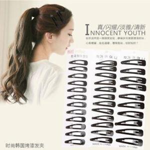 12Pcs Girls Women Metal Clip Hair Clips Donut Big Hair Accessories Hairpin D