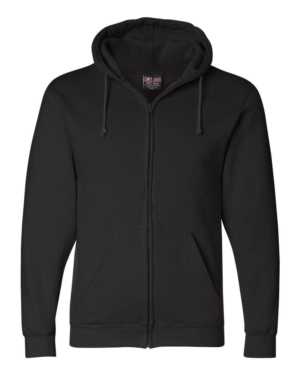 Bayside  Herren Adult Full Zip Hooded Sweatshirt BA900 Größe S-3XL