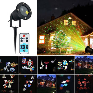 Details About Outdoor Christmas Led Lights Moving Laser Projector Landscape Garden Xmas Lamp