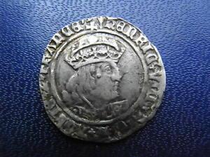 Henry VIII Silver Groat 2nd coinage 1526-44 Arrow mintmark S.2337E