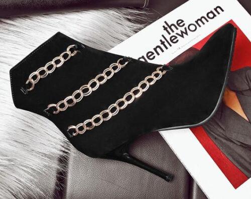 Stivali Stivaletti Simil Stiletto Nero 11 Scarpe Invernali 9371 Pelle Donna Cm Ha7qrHw