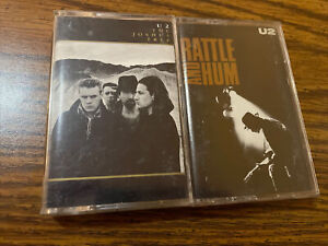 U2 Cassette Tape Lot of 2. The Joshua Tree & Rattle And Hum. Tested