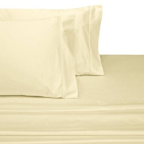 300 Thread Count Solid Sheet Set Combed Cotton Bed Sheet set Deep Pocket