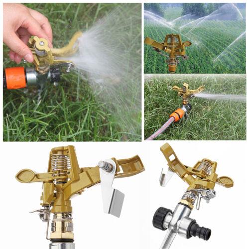 5x 360° Regner Impulsregner Impuls Sprinkler Gartenbewässerung Zink Metallspitze