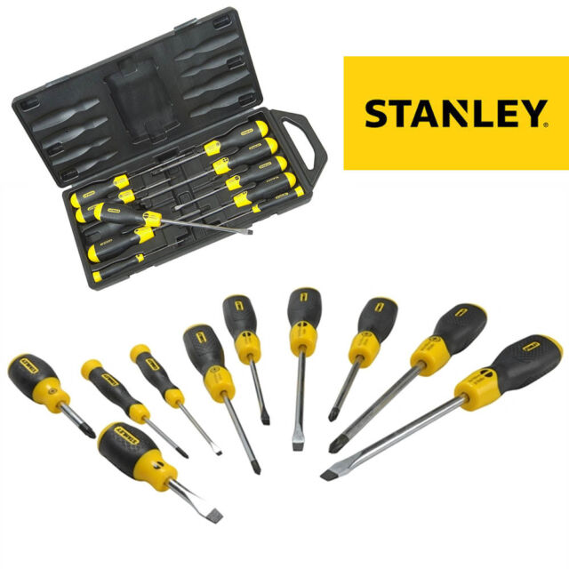 Stanley Cushion Grip Screwdriver Set Flared Pozi 10 Pce